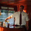 Full service bar onboard the Steam Yacht Louise.