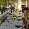 Sit down dinner for 12 on the upper deck of the Steam Yacht Louise.