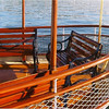 Aft seating board the Steam Yacht Louise.