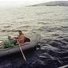 Tani and Jim headed ashore in the dinghy