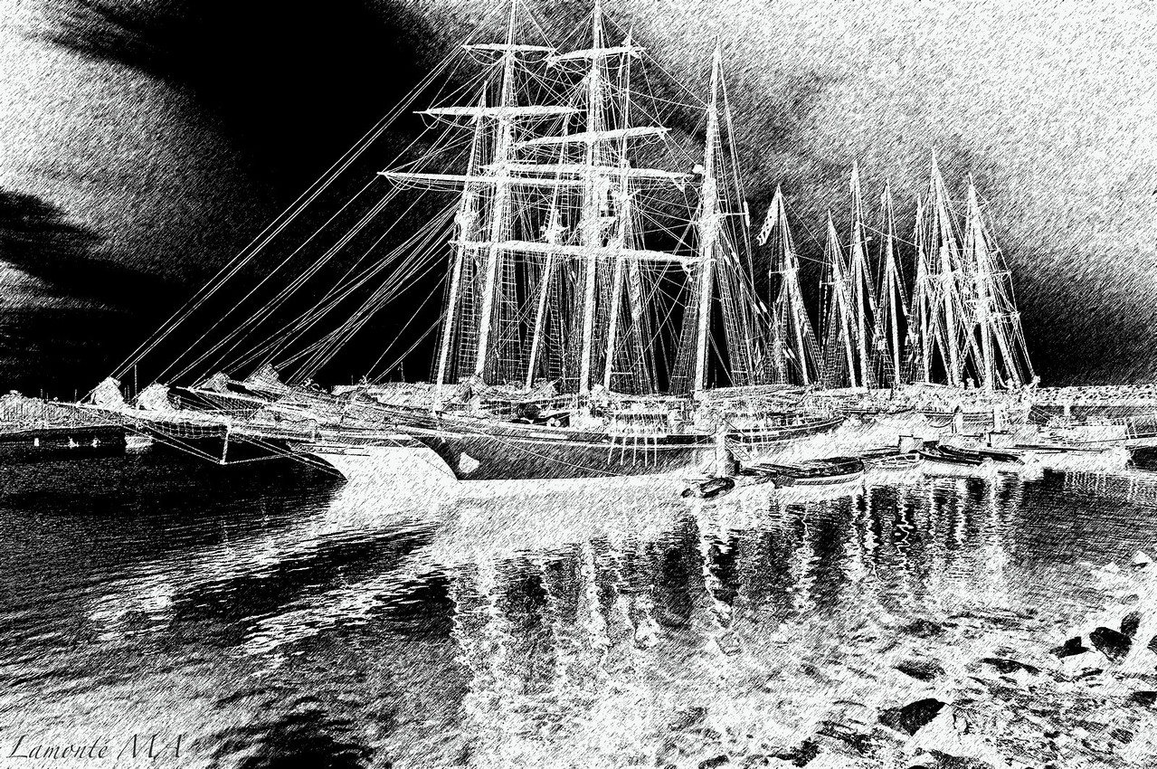 Tall Ships 2 B & W DP 2012