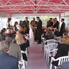 A small intimate wedding on the upper deck of the Duchess.
