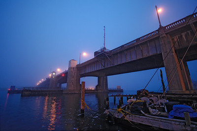 Highlands Bridge in Fog