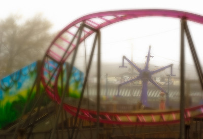 Keansburg Amusements - Sea Serpent Loop in Fog