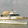 Trumpy Yacht Angelus Northbound in Jekyll Creek, Jekyll Island, Georgia 05-08-18
