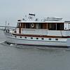 Trumpy Yacht Aurora II passing Jekyll Wharf 11-07-19