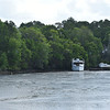 "Trumpy Yacht ""Friendship"" up creek near Darien, GA after partial refit after her sinking and is for sale 04-20-17"