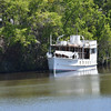 "Trumpy Yacht ""Friendship"" up creek near Darien, GA after partial refit after her sinking and is for sale 04-09-17"