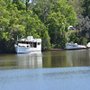 """Trumpy Yacht """"Friendship"""" up creek near Darien, GA after partial refit after her sinking and is for sale 04-09-17"""