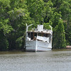 """Trumpy Yacht """"Friendship"""" up creek near Darien, GA after partial refit after her sinking and is for sale 04-29-17"""