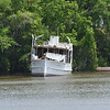 "Trumpy Yacht ""Friendship"" up creek near Darien, GA after partial refit after her sinking and is for sale 04-29-17"