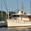 """Trumpy Yacht """"Lady Catherine"""" at Jekyll Harbor Marina at Jekyll, Island, Georgia on the ICW (Intracoastal Waterway) on 04-15-12"""