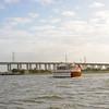 "Trumpy Yacht ""Lady Catherine"" south of Fernandina Beach, Florida 11-08-11"