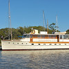 "Trumpy Yacht ""Lady Catherine"" at Jekyll Harbor Marina at Jekyll, Island, Georgia on the ICW (Intracoastal Waterway) on 04-15-12"