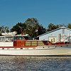 "Trumpy Yacht ""Windrush"" in St. Marys, Georgia off the Georgia ICW (Intracoastal Waterway) on 11-11-11"