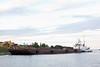 Tug Pat Lyall and barge in Moosonee.