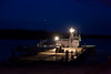 Night work on barge brought to Moosonee by tug Pat Lyall.