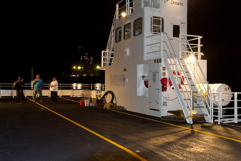 Ontario Northland's new barge Niska I tied up in Moosonee.