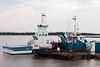 Moosonee Transport (MTL) tug Nelson River and Ontario Northland barge Niska I at Moosonee.