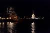 Barge Niska I passing tug Pat Lyall in Moosonee