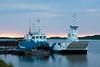 Tug Nelson River (left) docked with Ontario Northland barge Niska I.