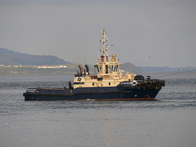 Svitzer Milford assisting Antje Schulte.<br /> 12th May 2012