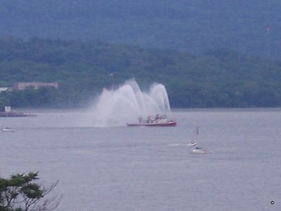 New York Fire Boat # 2 Spouts off