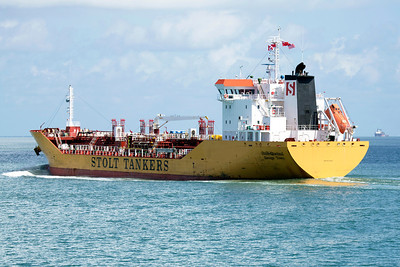 The Stolt tanker, Quetzal, is stately as it sails up to the refineries northwest of us.