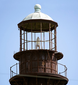 The Bolivar Light is inactive.  Its last lamp sits idle.