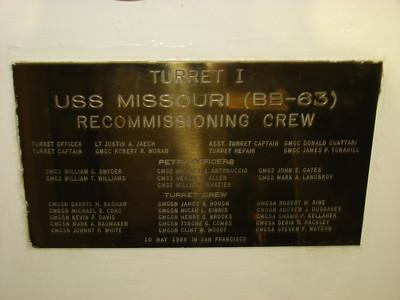 USS Missouri Memorial 4-12-13