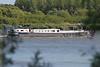De Milieuboot op de Schelde ter hoogte van Steendorp