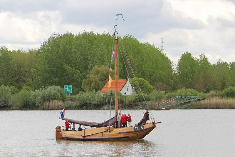 Oude zeilboot op de Schelde - Rupelmonde / Steendorp