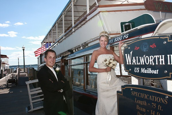 The US Mailboat also is a great venue for small weddings.