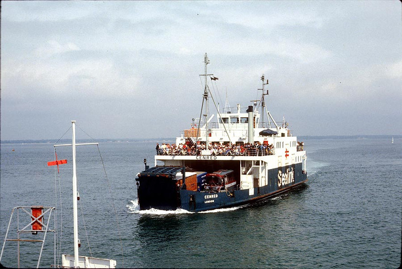 MV 'Cenred' arriving at Yarmouth IOW 24th July 1979