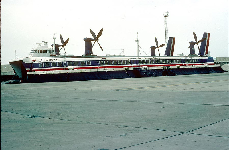 'The Princess Anne' Dover Hoverport 19th April 1980
