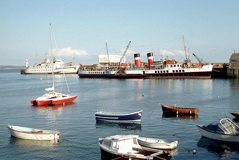MV 'Waverley' at Penzance 31st August 1986