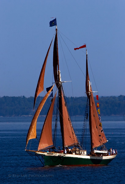 """The Windjammer Angelique. Home port, Camden Maine. This 95' ketch-rigged vessel was built in 1980. It carries 29 passengers. More info at  <a href=""""http://www.sailangelique.com"""">http://www.sailangelique.com</a>"""