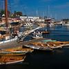 Wooden rowboats in Camden Harbor.