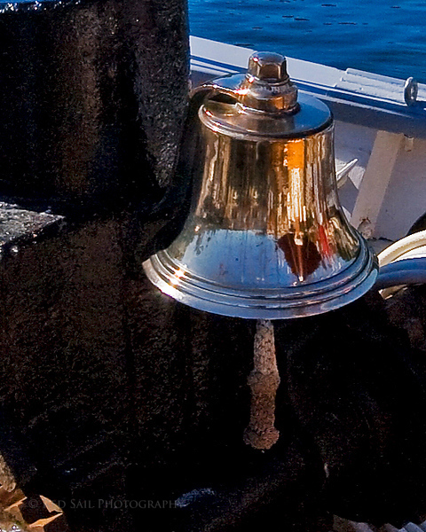 Ships bell aboard the Nathaniel Bowditch.