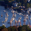 Camden Harbor, Maine. This panorama was taken from the top of Mt. Battie.