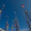 Masts from several windjammers.