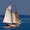 "Schooner Heritage. This 95' vessel was built in Rockland Maine, 1983. It carries 30 guests. More info at  <a href=""http://www.schoonerheritage.com"">http://www.schoonerheritage.com</a>"
