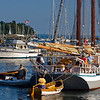 """Isaac H. Evans is backed into its berth at Camden Harbor. This beautiful sailing vessel is a National Historic Landmark as it was built in 1886 in Mauricetown, New Jersey. More info at  <a href=""""http://www.isaacevans.com"""">http://www.isaacevans.com</a>"""