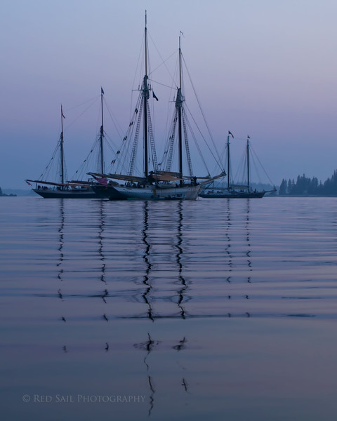 WoodenBoat Sail-In Evening Reflections..