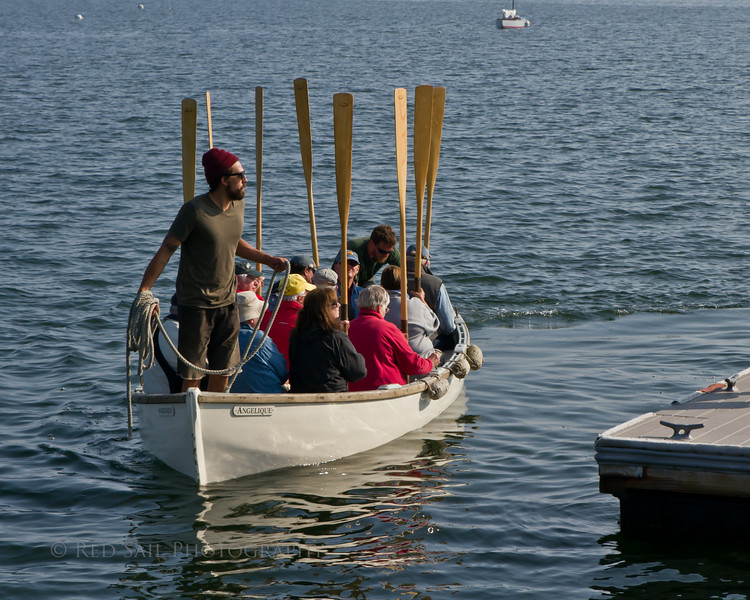 Oar's up.. Passengers from the Schooner Angelique ready for a great time.