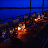 Intimate family dinner with linens and catering.  Great for a reunion or a rehearsal dinner.
