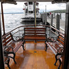 Aft deck of the Polaris provides seating for 10 or table seating for 8.