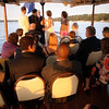 Small, intimate wedding ceremony on the bow of the Polaris.
