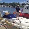 Sea Ray Salvage at 2-Way Fish Camp near Brunswick, Georgia 09-11-14