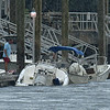 Boat Sinking during storm at St. Simons Marina 07-17-19